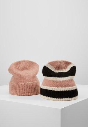 2 PACK - Mütze - black/rose