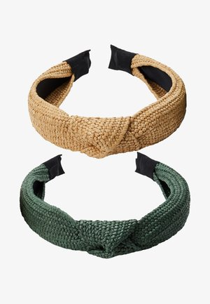 2 PACK - Accessori capelli - green/beige