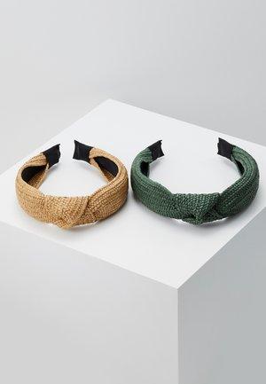 2 PACK - Accessoires cheveux - green/beige