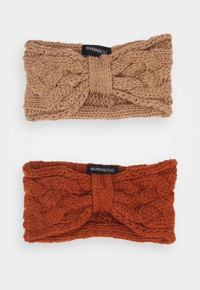 2 PACK - Ear warmers - beige/orange