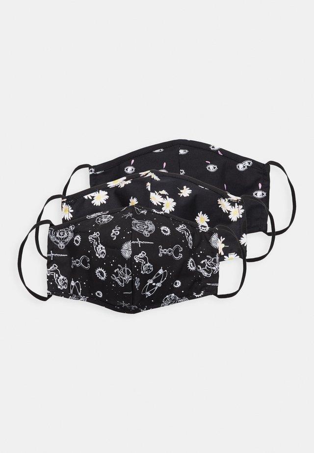 3 PACK - Maschera in tessuto - black/multi