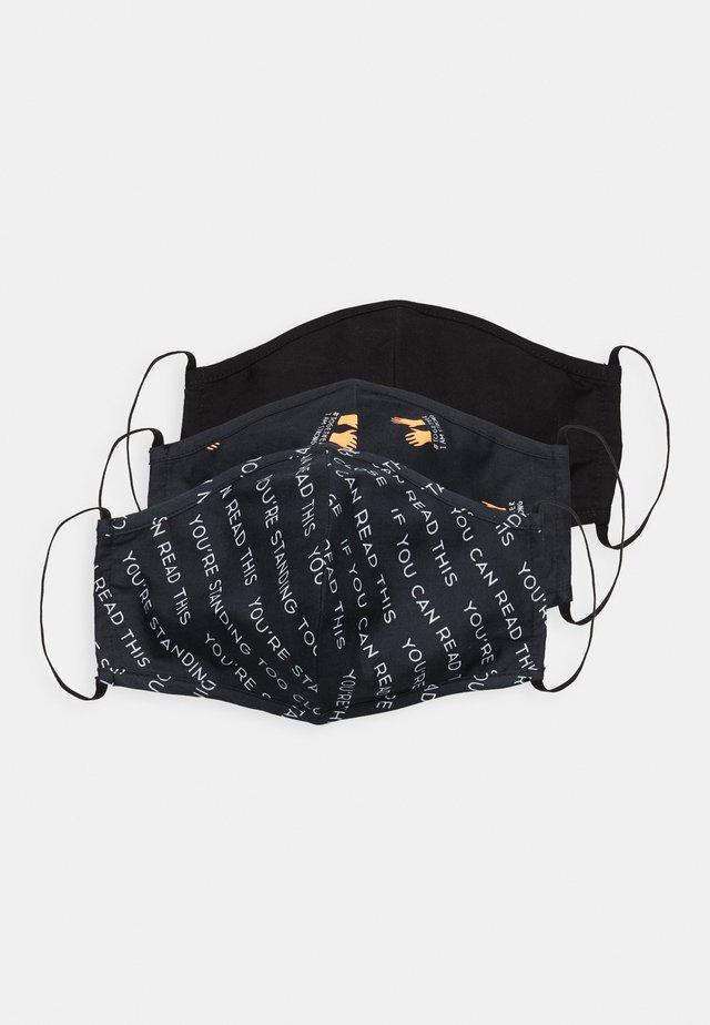 3 PACK - Maschera in tessuto - multi/black