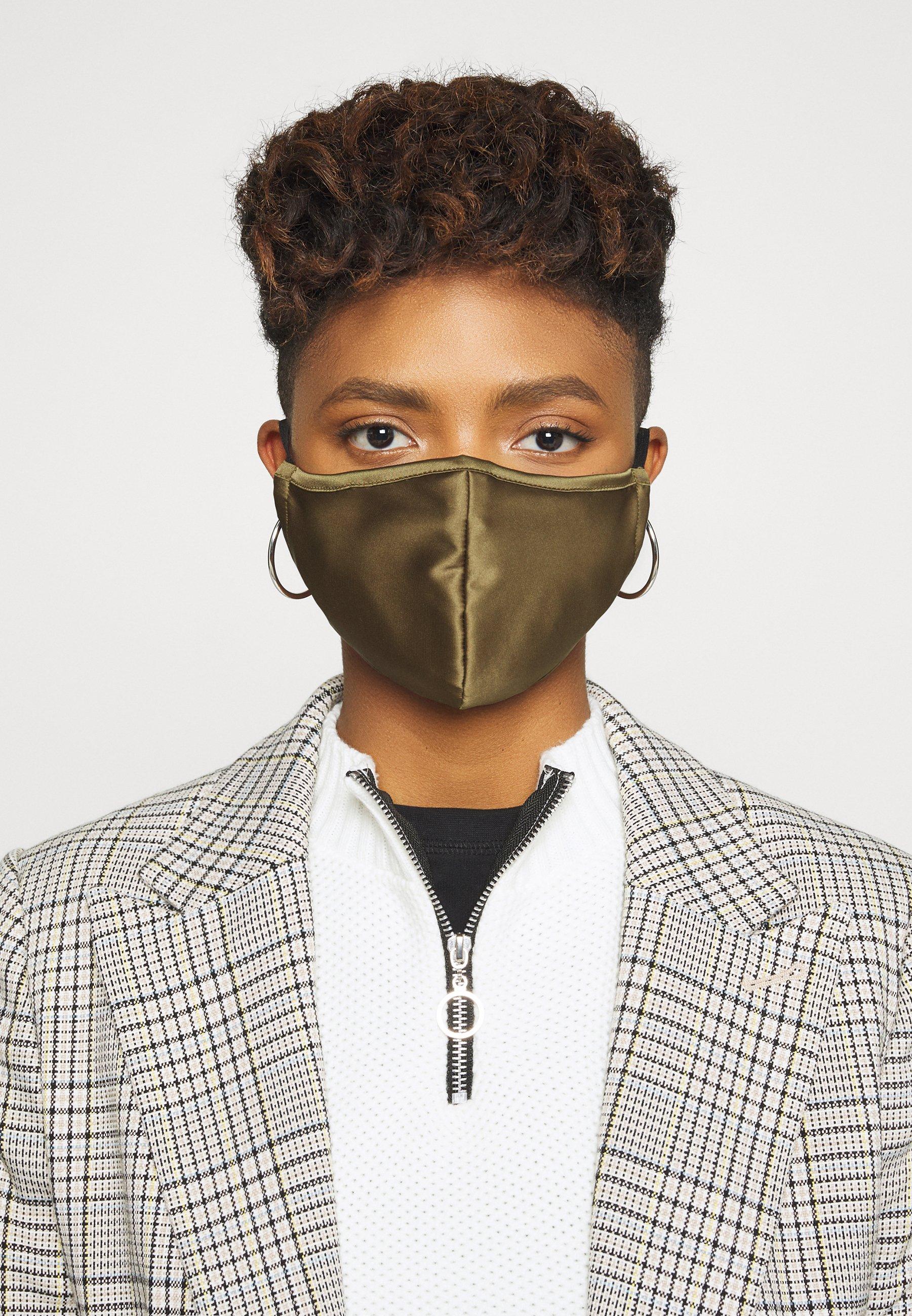 3 PACK Masque en tissu greengreyblack