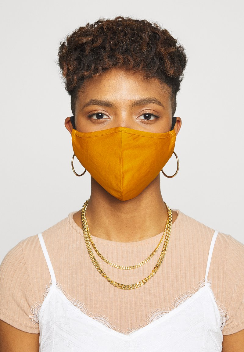 Even&Odd - 3 PACK - Community mask - black/mustard yellow