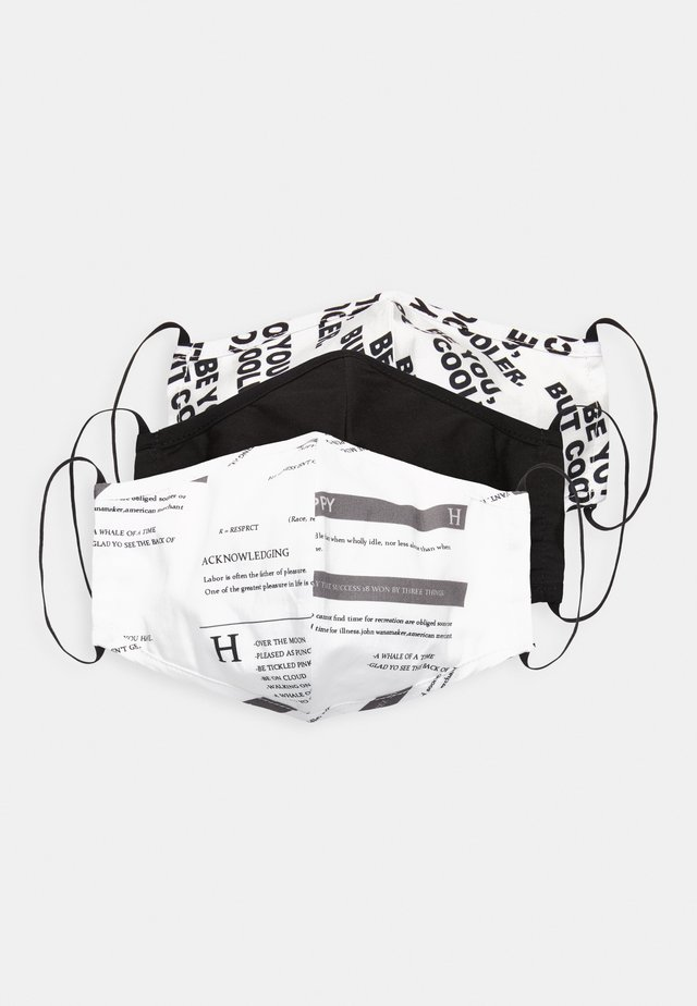 3 PACK - Tygmasker - white/black