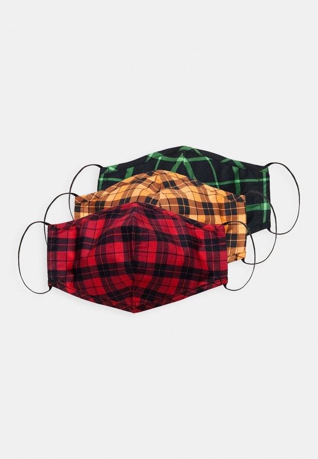 3 PACK - Látková maska - multi/orange/red