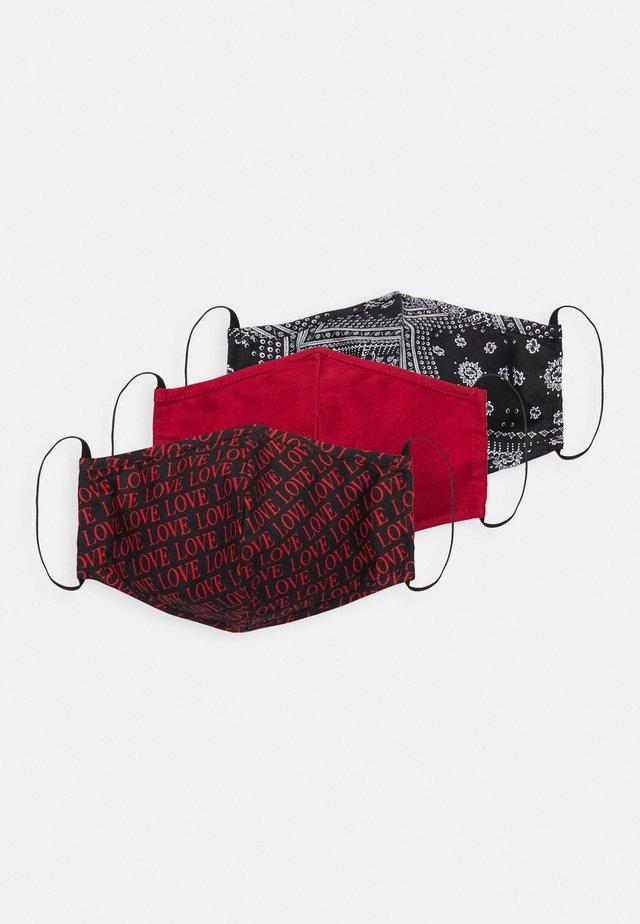 3 PACK - Community mask - multi/black/dark red