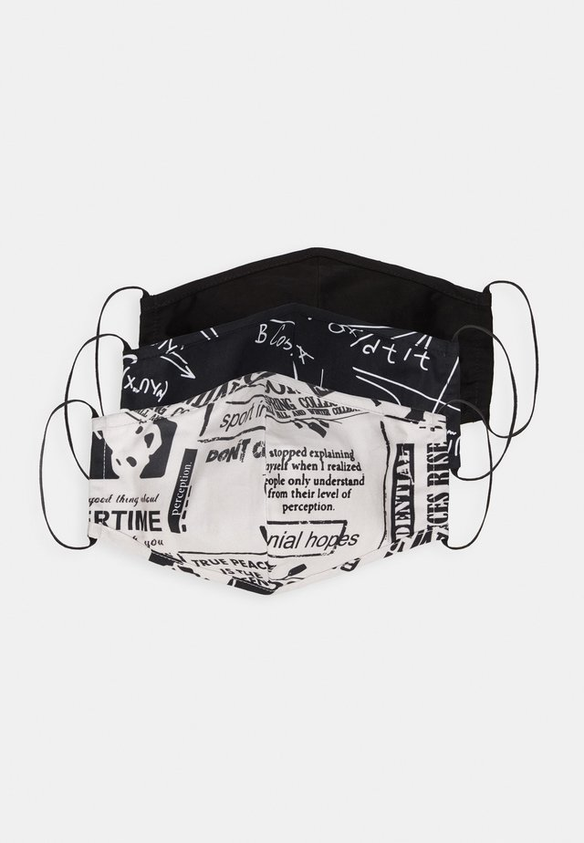 3 PACK - Stoffmaske - black