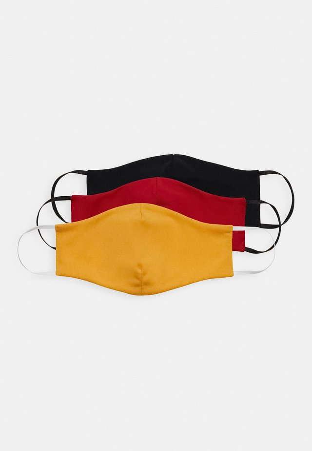 3 PACK - Tygmasker - orange/black/red