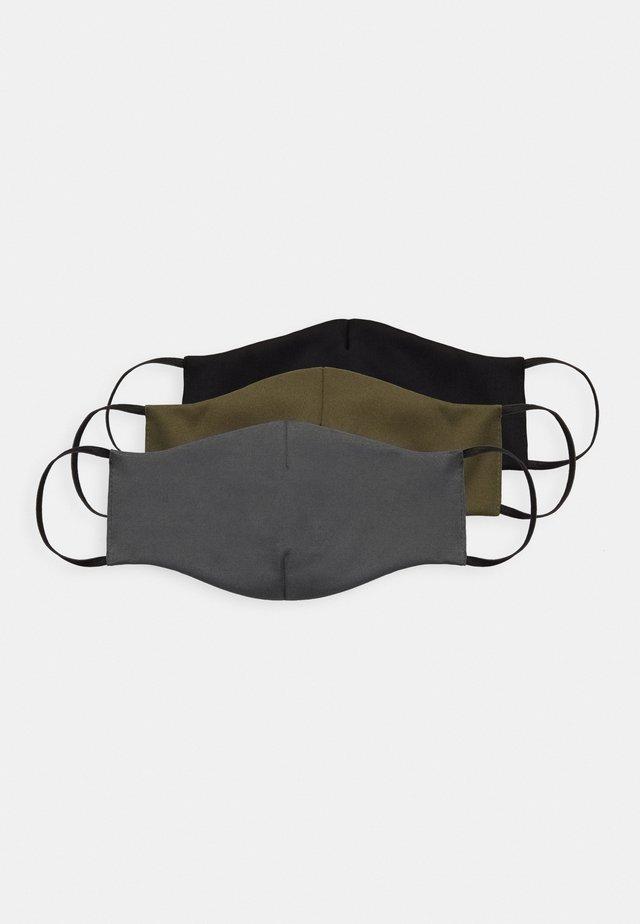 3 PACK - Stoffmaske - black/olive/grey