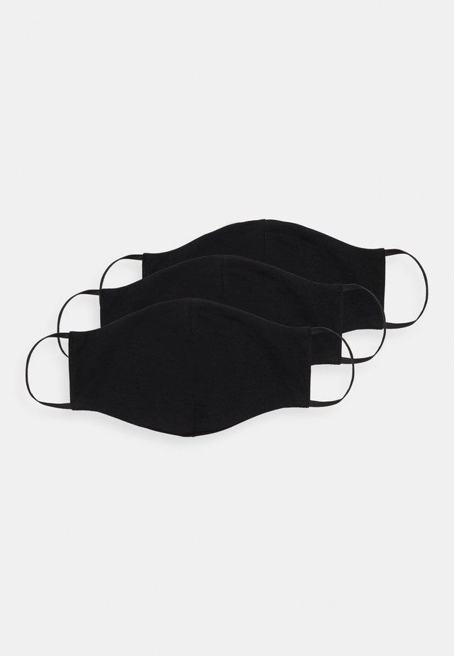 3 PACK - Látková maska - black
