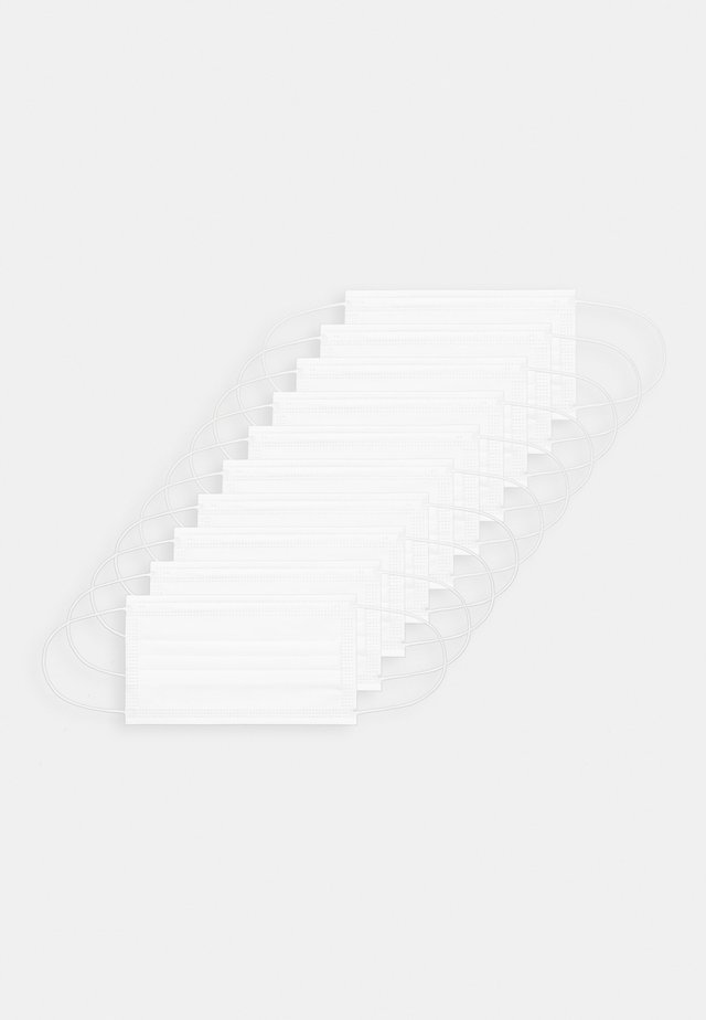 10 PACK DISPOSABLE - Tygmasker - white