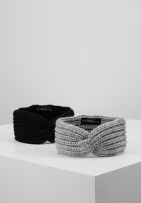 Even&Odd - 2 PACK - Ear warmers - grey/black - 0