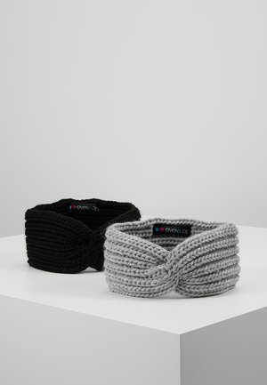 2 PACK - Nauszniki - grey/black