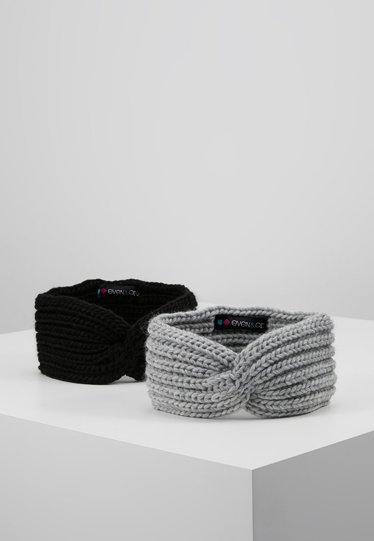 Even&Odd - 2 PACK - Čelenka - grey/black