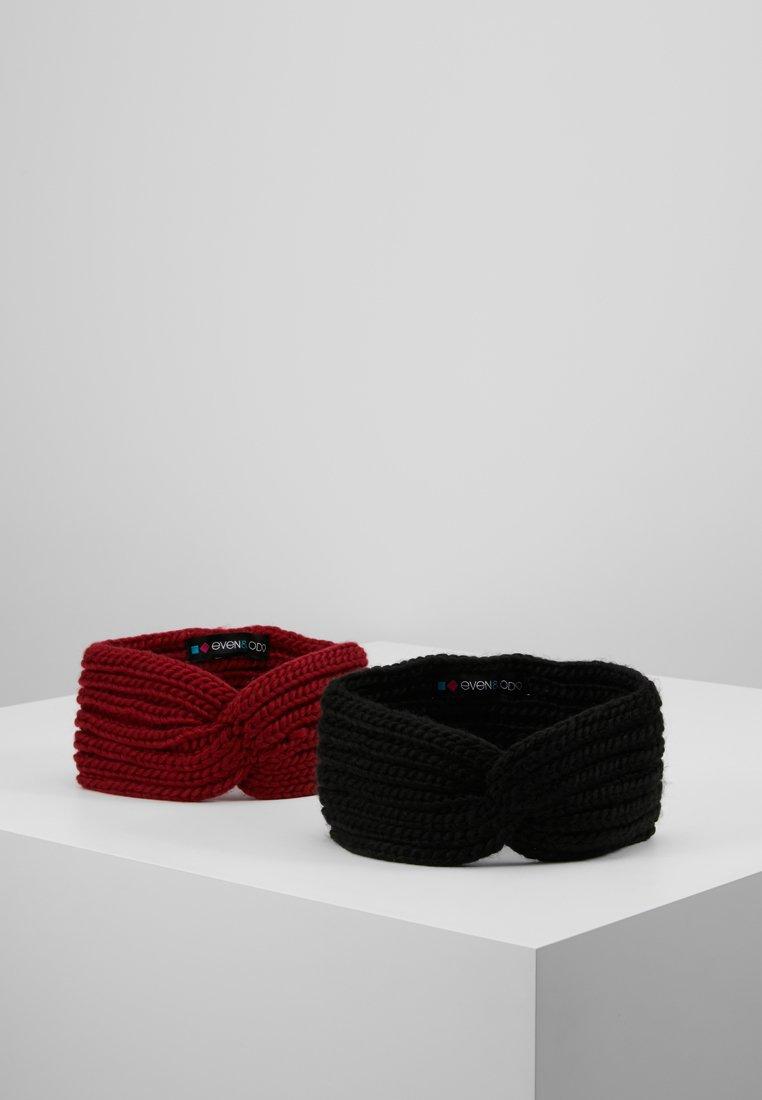 Even&Odd - 2 PACK - Paraorecchie - black/red