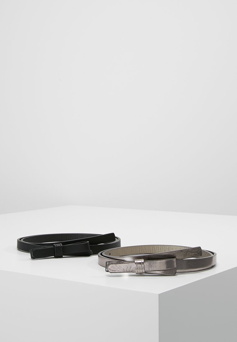 Even&Odd - 2 PACK - Belt - black/gunmetal