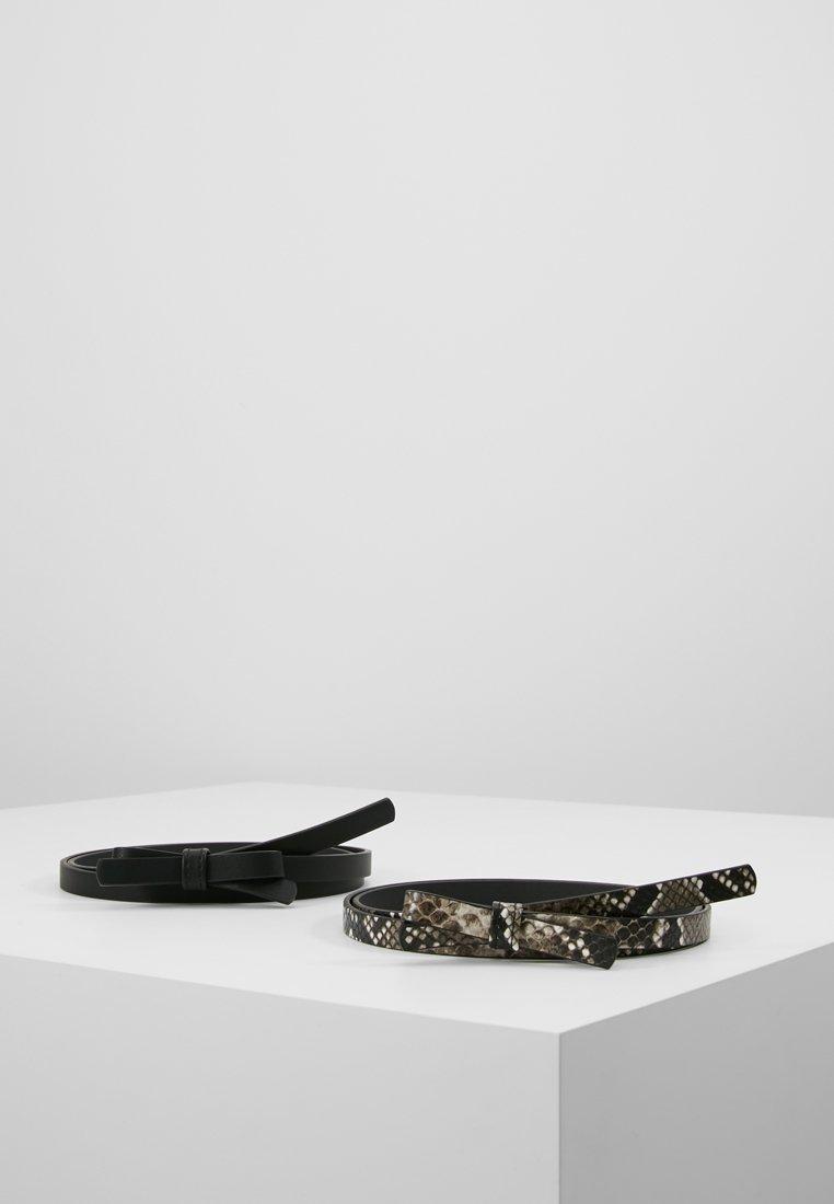 Even&Odd - 2 PACK - Gürtel - black/beige