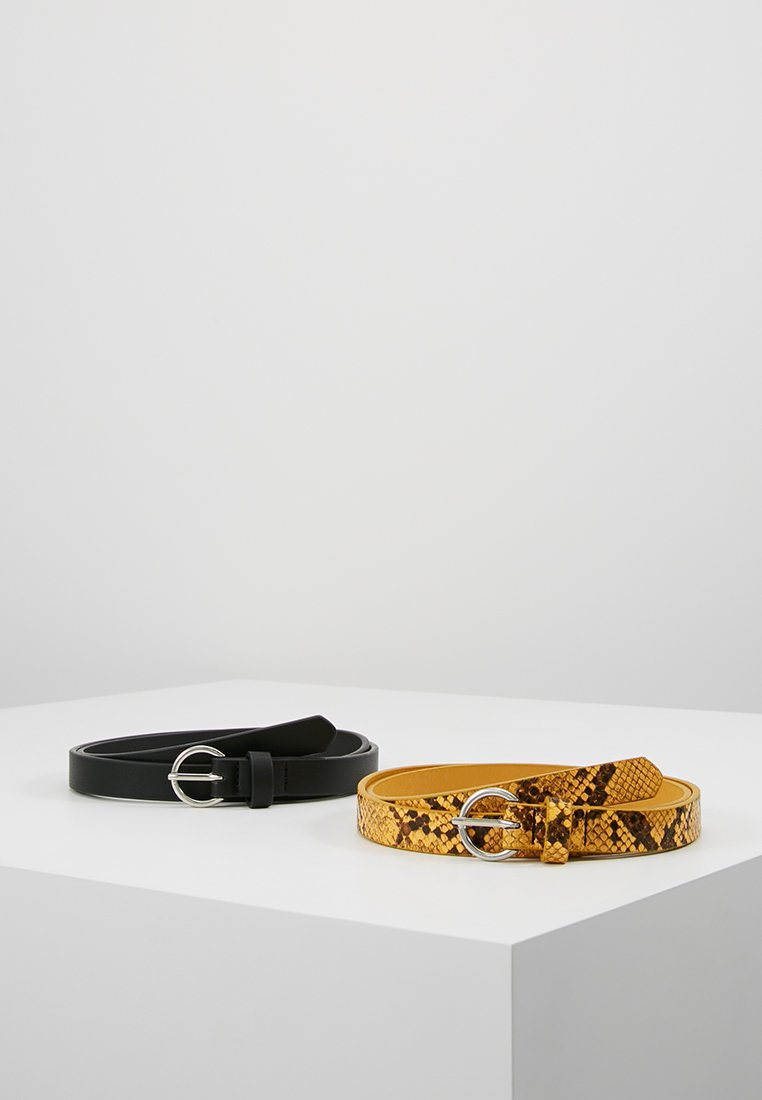 Even&Odd - 2 PACK - Waist belt - black/yellow