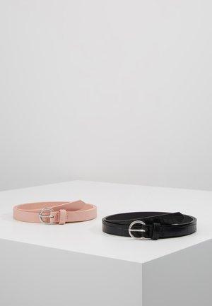 2 PACK - Belt - black/pink