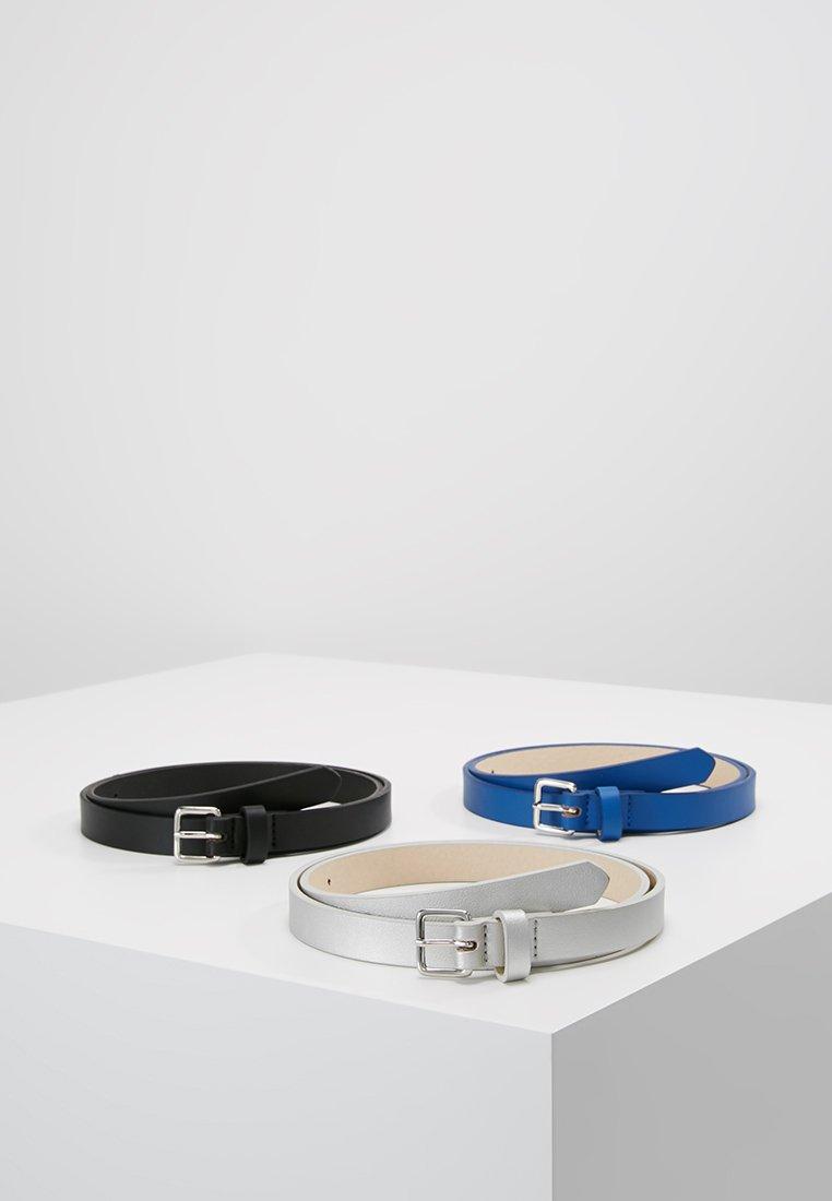 Even&Odd - 3PACK - Waist belt - black/blue/silver