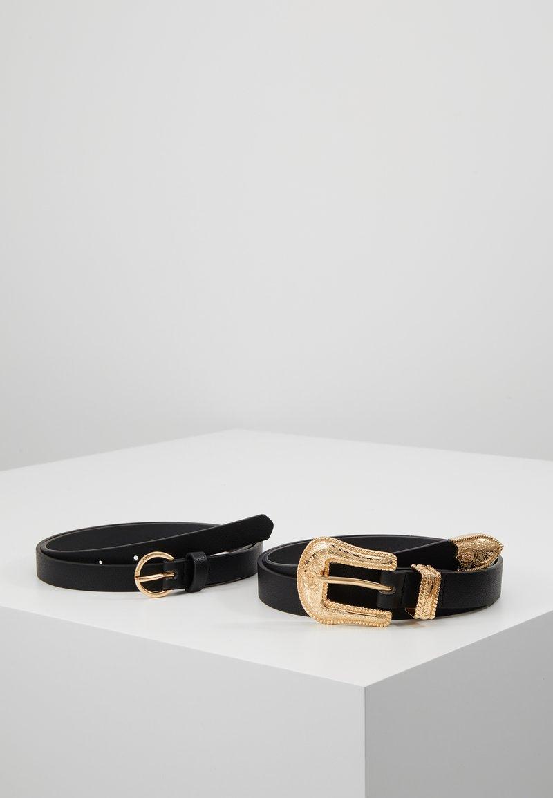 Even&Odd - 2 PACK - Gürtel - black