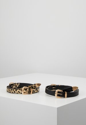 2 PACK - Ceinture taille haute - black/beige