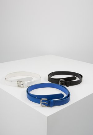 3 PACK - Belte - black/blue/white