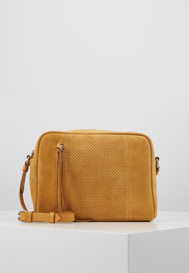 Even&Odd - LEATHER - Borsa a tracolla - mustard
