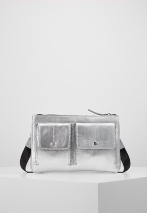 LEATHER  - Across body bag - silver