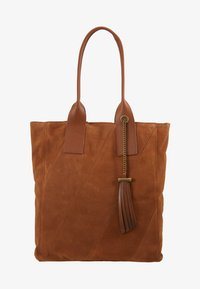 Even&Odd - LEATHER - Tote bag - cognac - 1