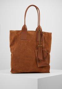 Even&Odd - LEATHER - Tote bag - cognac - 6