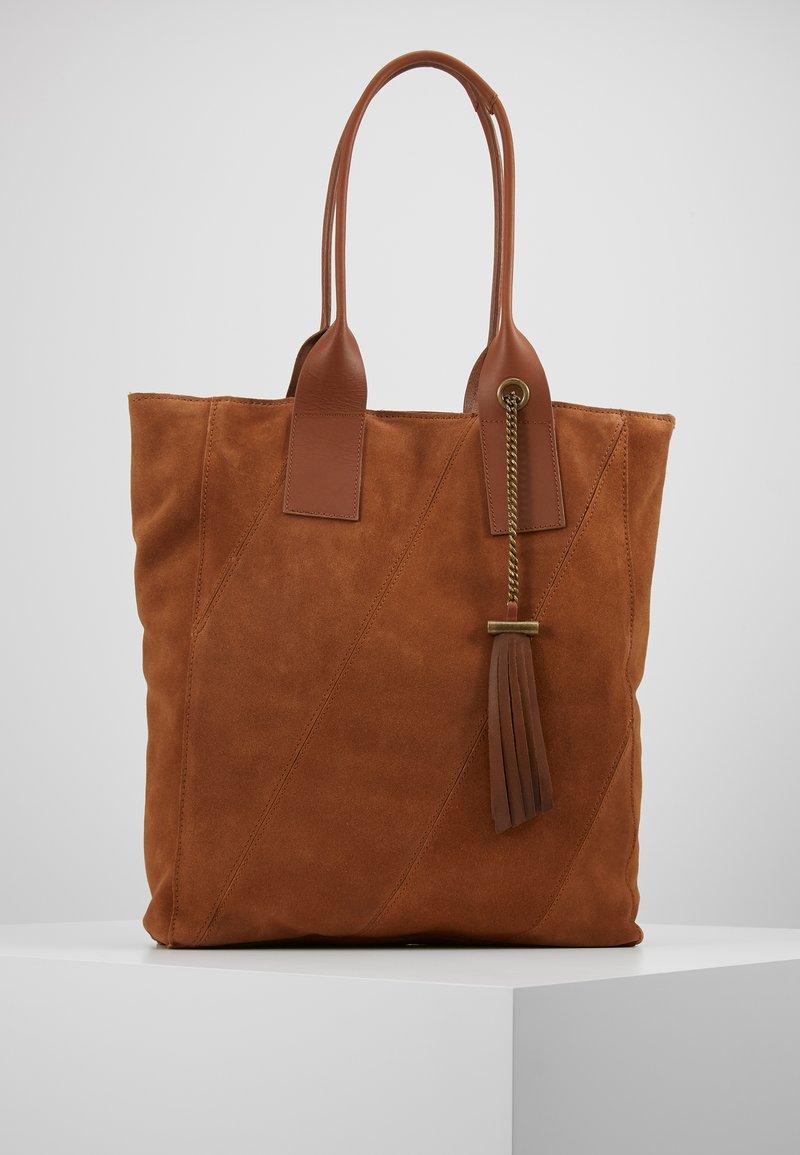Even&Odd - LEATHER - Tote bag - cognac