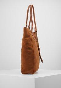 Even&Odd - LEATHER - Tote bag - cognac - 4