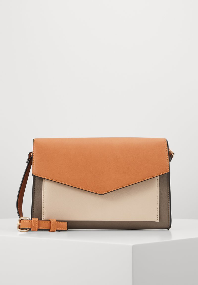 Even&Odd - Across body bag - cognac/taupe