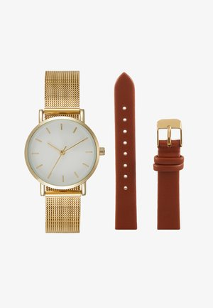 Horloge - cognac/gold-coloured