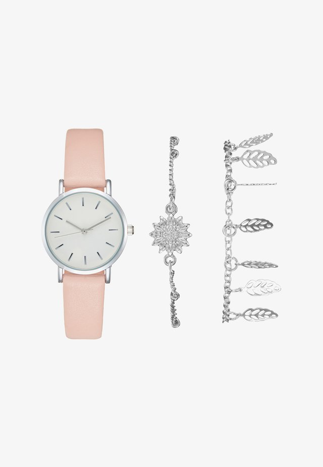 SET - Watch - rose/silver-coloured