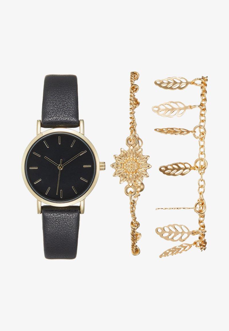 Even&Odd - SET - Montre - black/gold