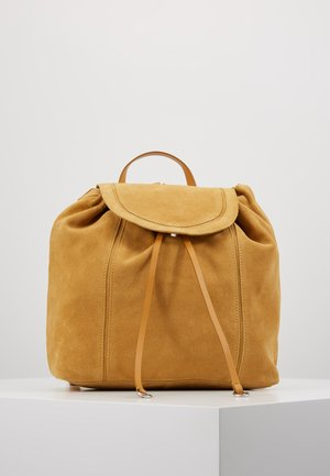 LEATHER - Reppu - mustard