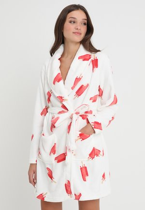 Dressing gown - white/pink