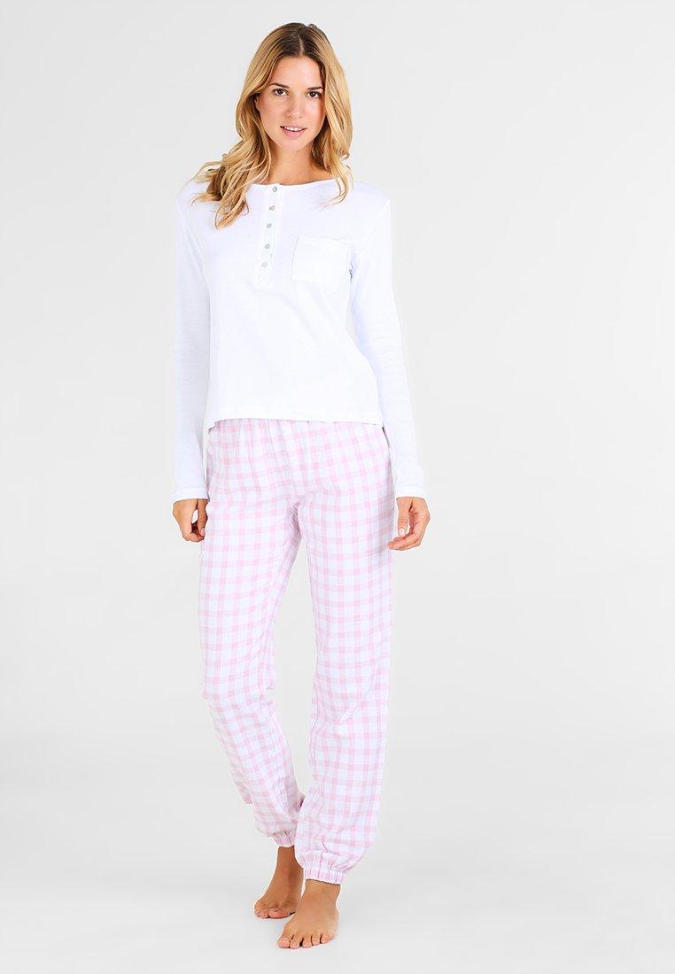 Even&Odd - Yöasusetti - white/pink