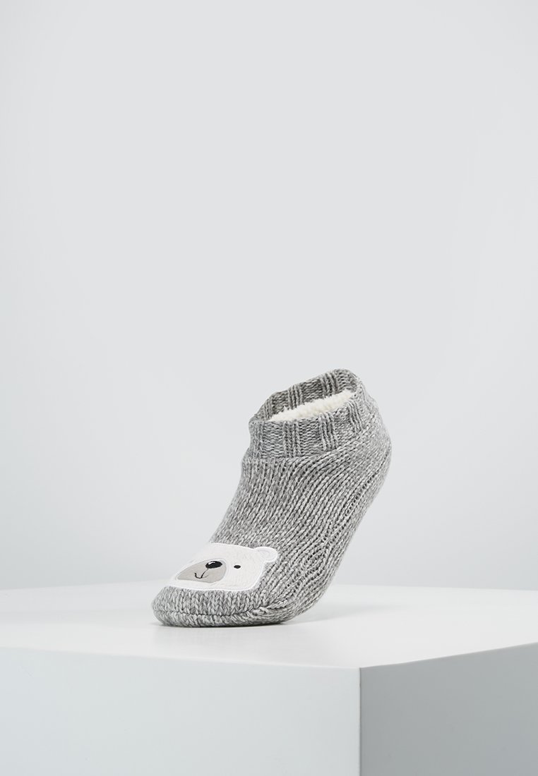 Even&Odd - BEAR SLIPPERS - Calcetines - grey