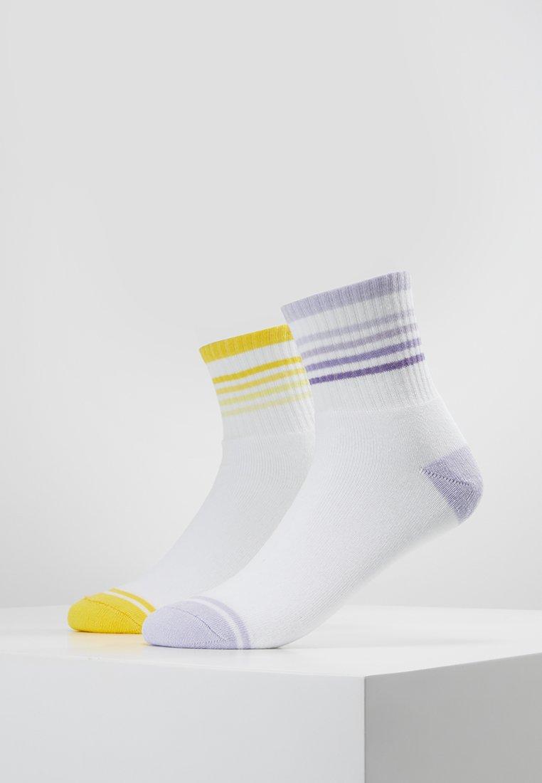 Even&Odd - SPORTS ANKLE SOCKS 2 PACK - Socken - white