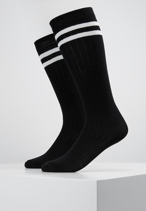 2 PACK - Knee high socks - white/black