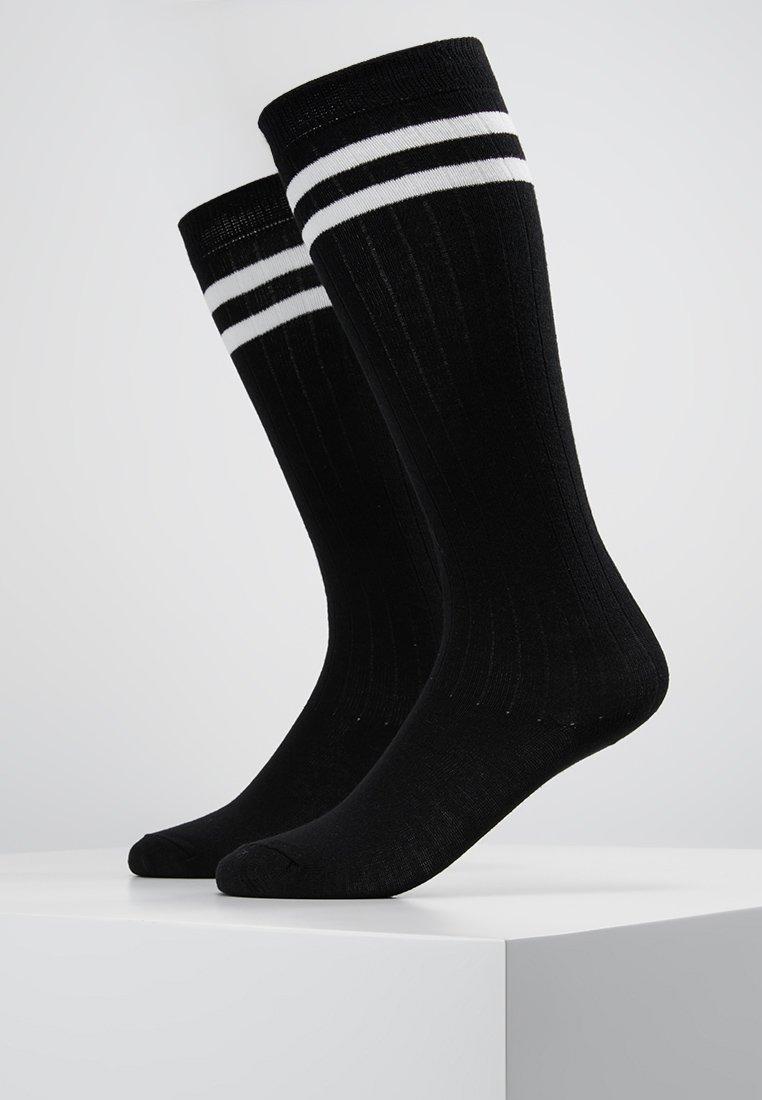 Even&Odd - 2 PACK - Kniestrümpfe - white/black