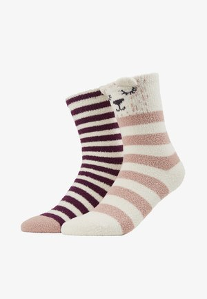 2 PACK - Calcetines - off-white/purple