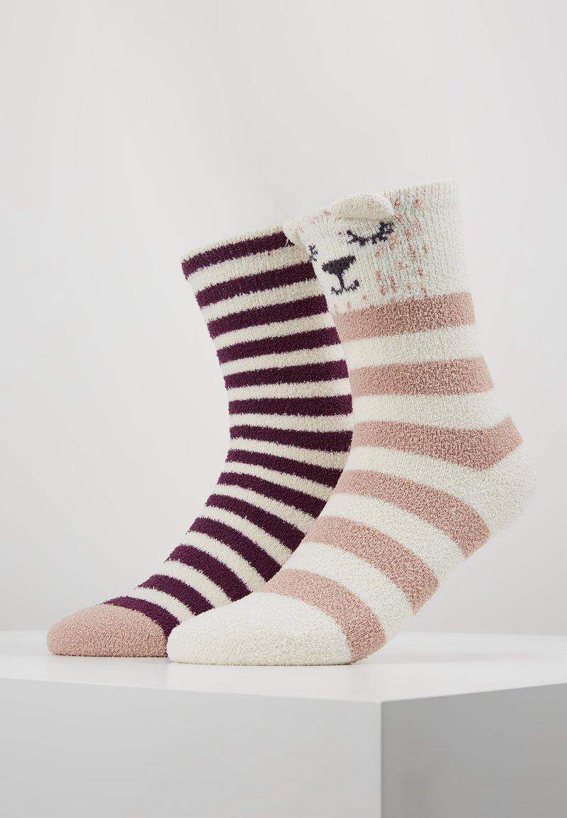 Even&Odd - 2 PACK - Socks - off-white/purple