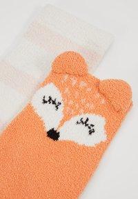 Even&Odd - 2 PACK - Socks - off-white/orange - 2
