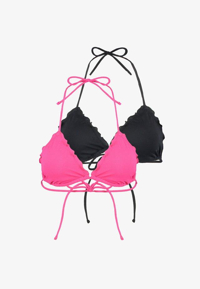 2 PACK - Bikini pezzo sopra - pink/black