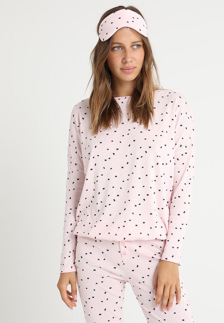 Even&Odd - SET - PYJAMA & EYEMASK - Pyžamová sada - pink